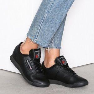 Reebok | Classic Princess Black Leather Sneaker